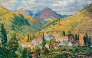 Гірське село, 1960-ті рр., п.о. 103х148