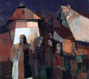 Evening Silence, 2004, oil on canvas, 80x90