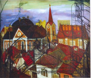 View Of Uzhhorod, 1996, oil on canvas, 100,5x120