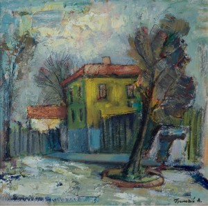 Yellow House, 2006, oil on cardboard, 50x50