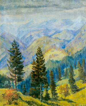 Гірський пейзаж, 1970-ті рр., п.о. 75х60