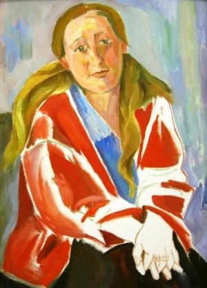 'Дівчина в червоній кофті', 1960, п.о., 120х89
