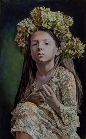L. Horkavchuk. Girl With Flowers, 2017
