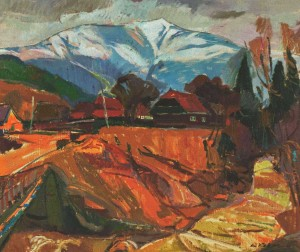 Yellow River in Huklyvyi Village, 2011, oil on canvas, 65x80