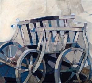 Kuruts's Cart, 2004, oil on csnvas, 60x70
