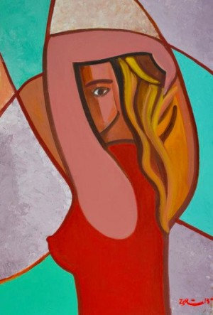 A Girl In Red', 2013, 70x50