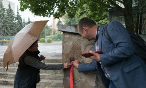 IN UZHHOROD It was opened A NEW MINI-SCULPTURE BY MYKHAILo KOLODKo