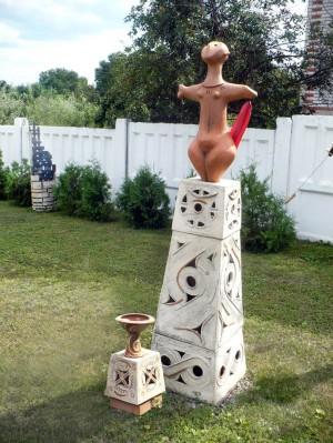Апофеоз жінки трипілля, шамот, ліпка, солі