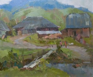 V. Dub 'Stuzhytsia Village', 2017, oil on canvas, 60x70