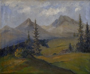 'View Of The High Tatras', 1935, oil on canvas, 76x91.jpg