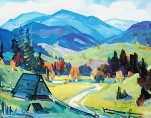Mizhhiria, 2000, oil on canvas, 70x90