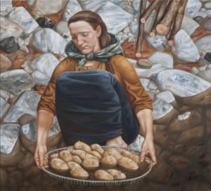 Дівчина біля річки, 2012, п.о., 90х100