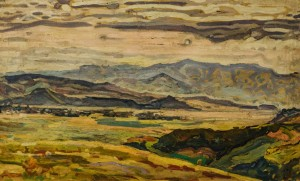 View from the top, the 1960s, paper, oil, 50х78