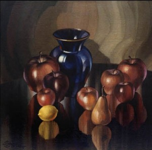 Still Life With A Blue Vase, 2008, acrylic on levkas on canvas, 60х60