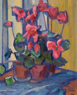 Cyclamens, 1969, oil on canvas, 50х40
