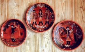 Декоративні миски, глина, поливи, розпис