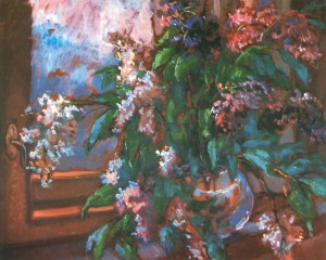 Royal Lilac oil on fibreboard