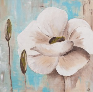 'White Poppy', 2017, oil on canvas