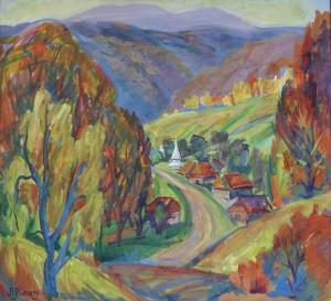 Собатино, 1997, кар. тем., 75х69
