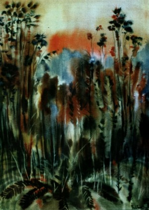 In Gossamer. Pol-de-Rio, 1994, fabriano, watercolour, 90x65
