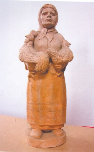 At The Market, 2003, ceramics, 35х14х11