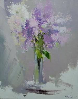 Lilacs  2015 oil on canvas 50x40.