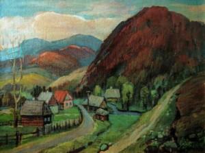 Край села Жденієво, 2003, п.о., 60х80
