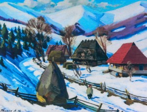 Березень в горах, 1974, п.о., 55х69