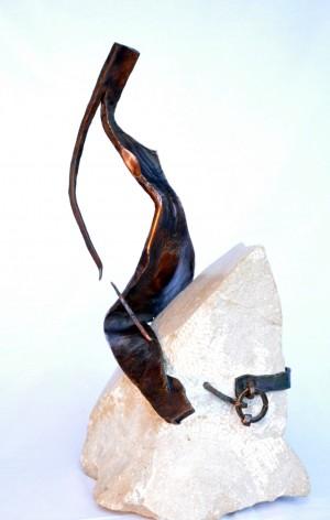 Вершниця, 2012, мідь, камінь, Н=50