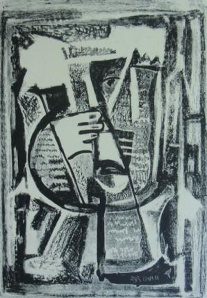 'Графічний лист', 1964, пап.літографія, 33х23