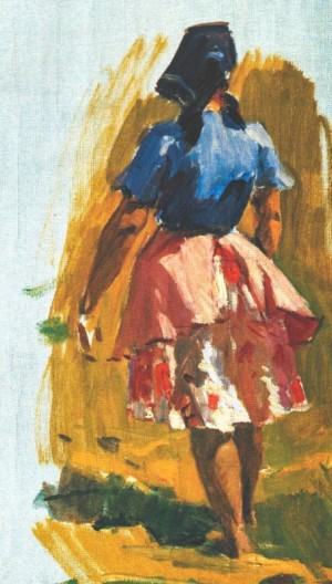 Girl From The Collective Farm, 1964, oil on canvas, 67х38