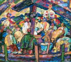 On Polonyna, 1995, tempera on canvas,80х90