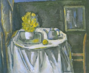 Yellow Flowers On The Tray, 2005, oil on cardboard, 60x50