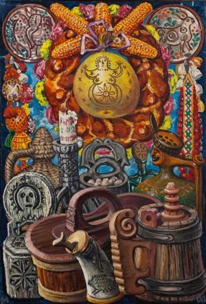 F. Manailo Still Life Yurianyk', 1975 oil on canvas, 107х70