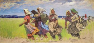Dobron Girls, 1959, oil on canvas, 70х149,5