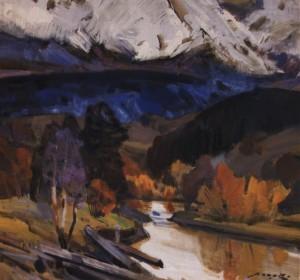 Гірська річка, 1983, п.о. 75х80