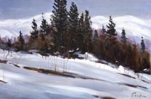 Зимовий етюд, 1986, 50x75