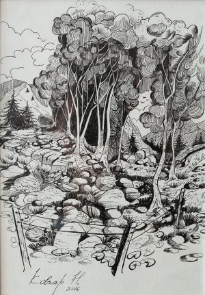 N. Kovchar The Forest', 2016, 30x20