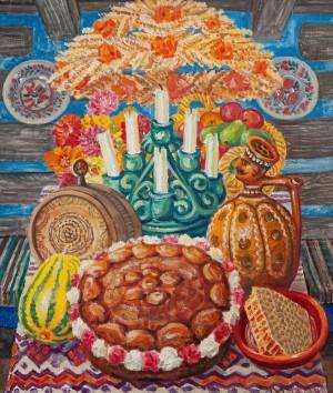 F. Manailo New Grain, 1975, oil on canvas, 80x69