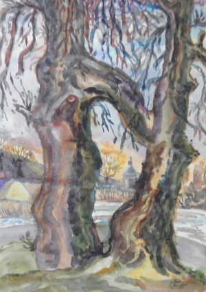 Історичні дерева, 1985, пап. акв., 42х60