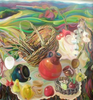 M. Vorokhta Still life With Wind', 2001, oil on canvas, 110x104
