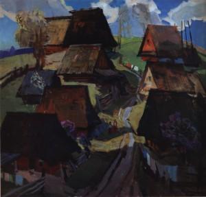 Гірське село навесні, сер. 1970-х, п.о. 117х111