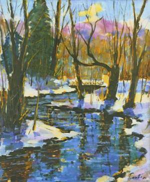 Зимовий місточок, 1988, 60x50
