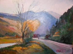 'Дорога в горах', 60х80