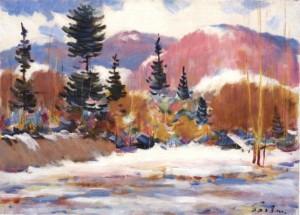 Зимовий пейзаж Березнянщини, 1981, 50x70