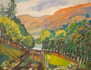 V. Hanzel The Crimson Mountains Above The Uzh River'