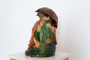V. Svyda Under The Umbrella', 1962, majolica, sculpture of small forms