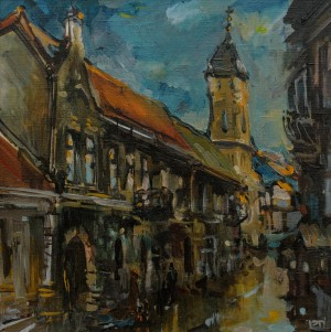 I. Temetov City Motif', oil on canvas, 50x60