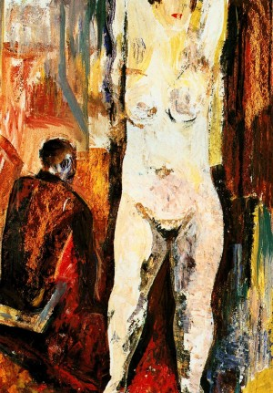 Wife Of A Disabled Person', 1966, tempera on cardboard, 70х49,5