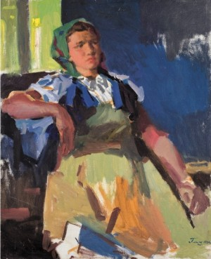 Milkmaid, 1964, oil on canvas, 94,5х77